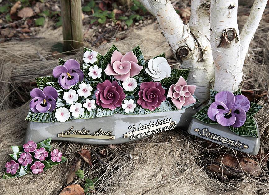 céramique florale